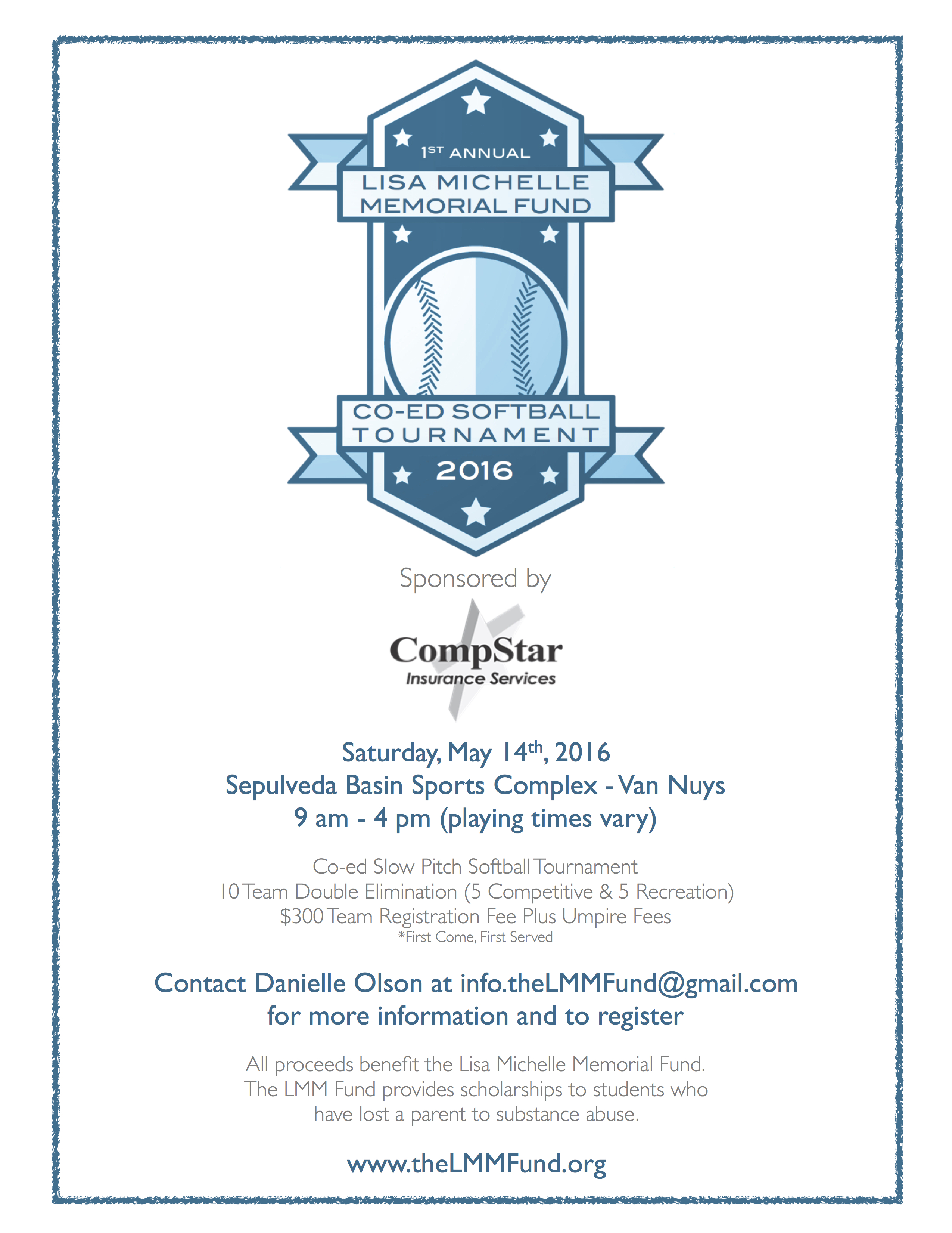 Spots still open for 1st annual co ed softball tournament on may tournament flyer w sponsor stopboris Gallery